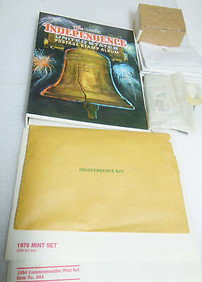 Stamp Collection Independence USA Postage Stamp Album plus foreign