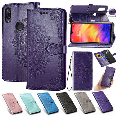 Mandala Book Case Leather Slim Flip Cover For Xiaomi Redmi Note 7 6 5 Plus 6A F1