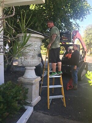 Palace Size Early to Mid 20th Century Italian Carved Marble Garden Urn