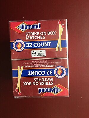15 BOXES DIAMOND WOOD RED TIP MATCHES 32x15=480 STRIKE ON BOX STICK PENNY WOODEN