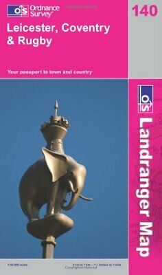 Leicester, Coventry and Rugby (OS Landranger Map) by Ordnance Survey 0319231763