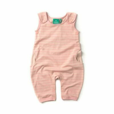 Little Green Radicals Organic cotton Cloud Pink stripe Dungarees 0 3 6 9 12