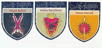 Game of Thrones House Martell Bolton Baratheon Sigil Case Topper Lot H10 H11 H12