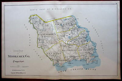 Middlesex county south Long Island Sound Old Saybrook 1893 Connecticut Hurd map