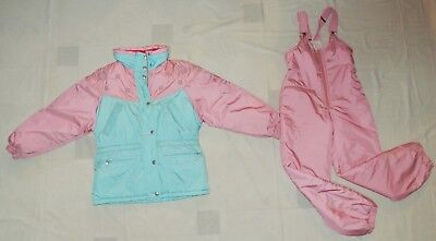 VINTAGE SKI KIT JACKET AND TROUSERS FOR GIRLS By CACAO MADE IN ITALY Sz 40