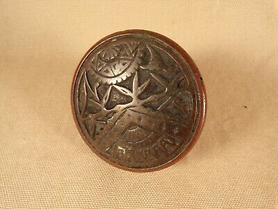 Antique Victorian Eastlake Art Nouveau Bronze Door Knob Ornate