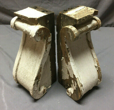 Pair Antique Corbels Shelf Brackets Shabby Vintage Chic 254-19L