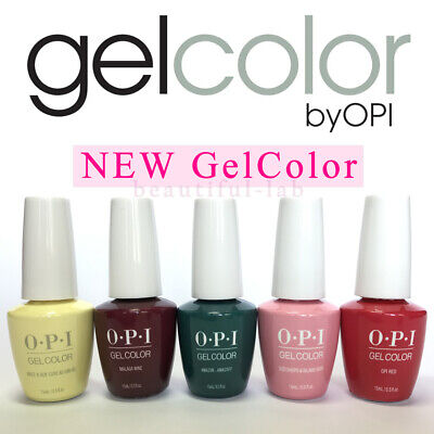 OPI GelColor 15ml/0.5fl.oz Gel Nail Polish PERU, LISBON, GREASE SoakOff Base Top