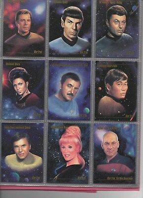STAR TREK Master Series 1 Complete main set in nine card pages