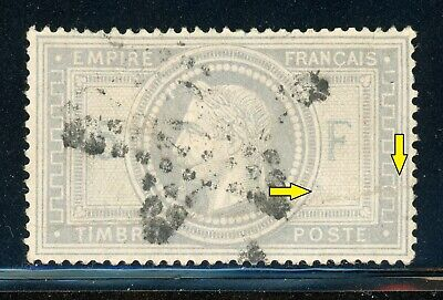 France Used Early Selections: Scott #37 5Fr Gray Lilac/Lavender Faults CV$750+