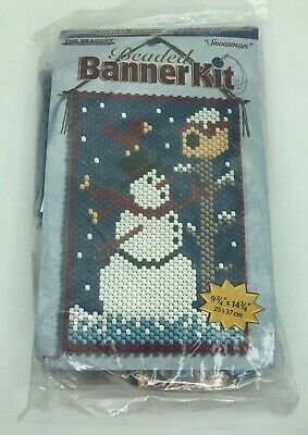 Beaded Banner Kit The Beadery Craft Products Factory Sealed Snowman 5186 2001