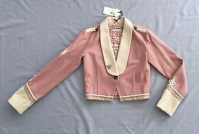 NWT STELLA McCARTNEY Kids GIRLS DUSTY PINK MILITARY JACKET 14 years Sgt Pepper