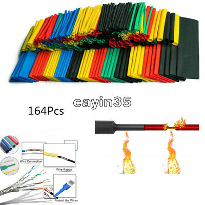 164PCS Polyolefin Heat Shrink Assorted Tube Tubing Insulated Sleeve Wire Cable K
