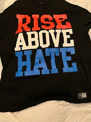 sale retailer b3cfc 9556b John Cena Rise Above Hate Mens Black T-Shirt