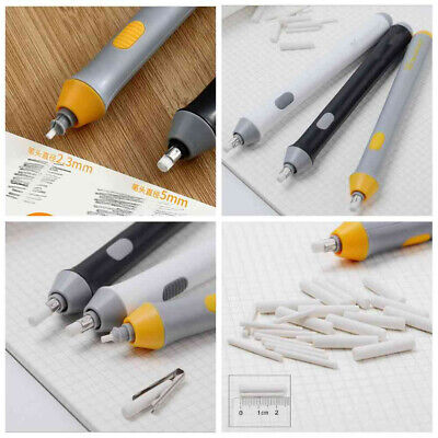 Electric Pencil Eraser Kit Highlights Sketch Drawing With 22pcs Rubber Refills