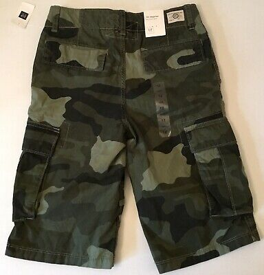 f4adff73f6 NEW Boys GAP Kids Cargo Camo Shorts, Army Green Camouflage, Size 10 Regular  NWT