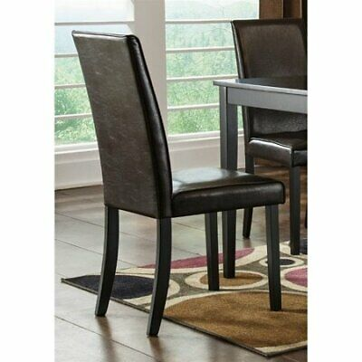 Signature Design by Ashley Kimonte Dining Chair - Set of 2 (Dark Brown)
