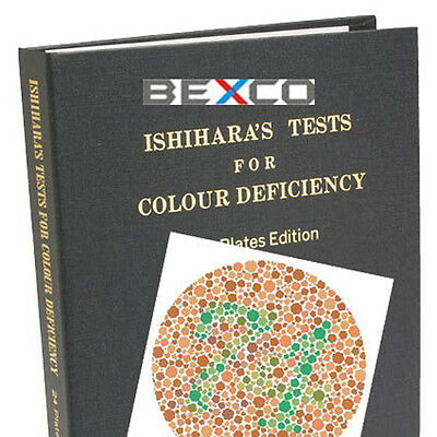 Top Quality Brand BEXCO ishihara Book 38 Plates Colour Blindness Test Free Ship