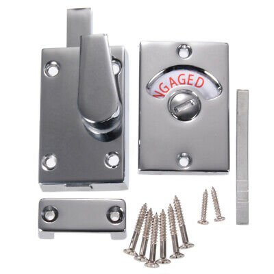 Bathroom Toilet Door Turn Bolt Latch Lock WC Privacy Safe Vacant Engaged Catch