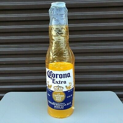 "CORONA EXTRA BEER BOTTLE INFLATABLE BLOW UP 27"" X 7"" Man Cave NEW"