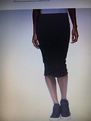 1c225114f $165, JAMES PERSE Double Shirred Skinny Skirt Size 1 Small, Black ...