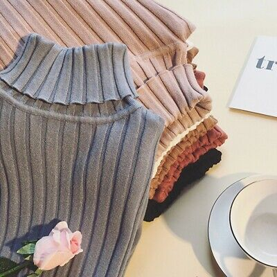 Women Winter Warm Turtleneck Knitted Sweater Long Sleeve Pullover Tops Blouse AU