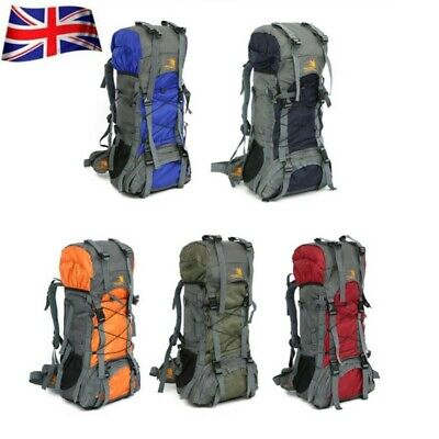 Extra Large 60 L Travel Backpack Hiking/Camping Rucksack Luggage Bag UK New