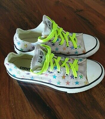Converse Chuck Taylor Junior Kids Multi Star Canvas Low Top Sneakers US 2