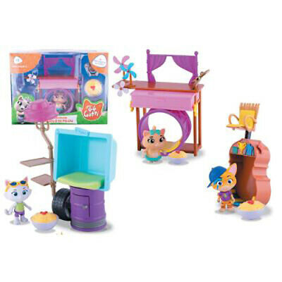 44 GATTI I BUFFYCATS LA CLUBHOUSE Playset con Personaggio 8 cm by SMOBY