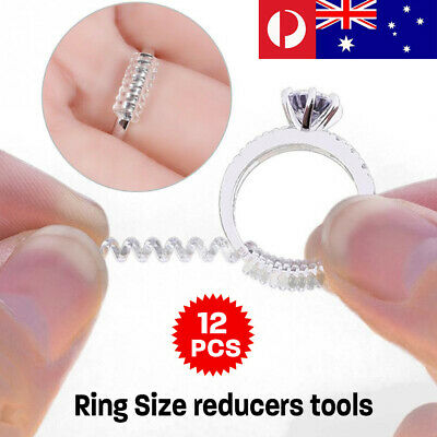 12pcs Ring Size Adjuster Reducer Resizing Guard Tightener Ring Spring Rope HOT
