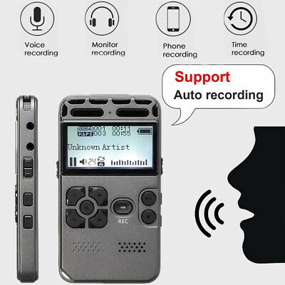Rechargeable LCD Digital Audio Sound Voice Recorder Dictaphone MP3 Player AU