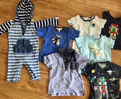 Baby Boy 7 Piece Bundle Blue Size 1 Ted Baker Seed Bebe