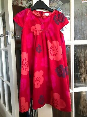 girls vertbaudet Red Floral Summer Dress Age 3 Years