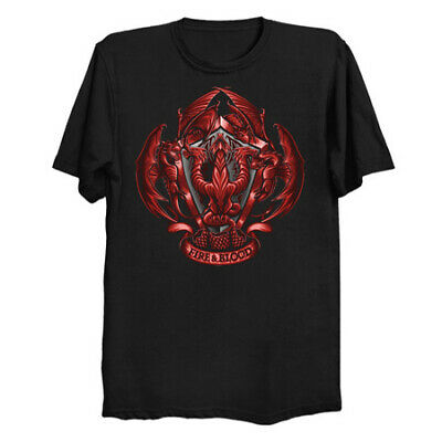 Fire And Blood A History Of The Targaryen Dragon Game Of Thrones Black T-Shirt