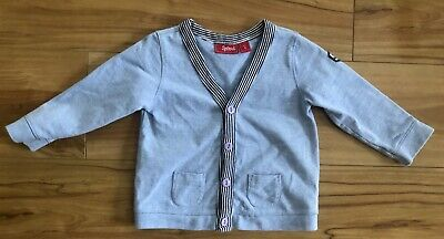 Sprout Baby Boy Blue Cardigan with Buttons Size 0 (9-12 months)