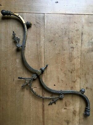 Victorian Antique Brass Ceiling Light Chandelier Solid Branch arm Estate Find