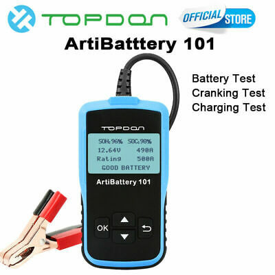 2019 Topdon 12V Véhicule Charge Batterie Testeur Analyseur ArtiBattery101 AB101