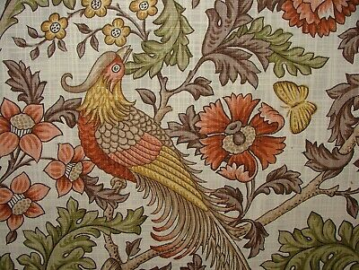 Oakmere Henna Cotton Curtain Upholstery Quilting Fabric William Morris Style