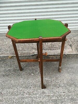 "Vintage Retro ""Revertable"" Folding Reversible Card Games Table Octagonal Top"