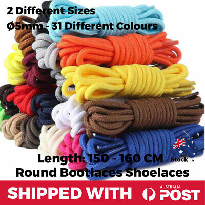 Shoelaces Round Colourful Multi Coloured Bootlace Sneaker Boot Unisex 150 160 CM