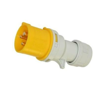 Trailing Plug 16 Amp 110 v Site Plug 3 Pin PCE 110 Volt Yellow Hook Up NEW