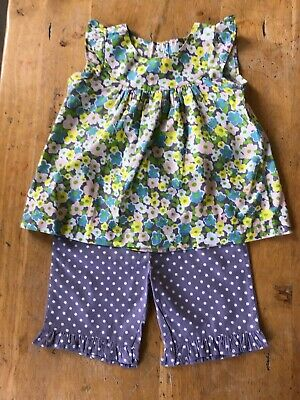 Girls Baby Boden Trousers And Top Set Age 12-18 Months