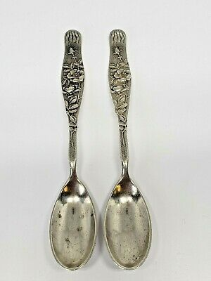 Vintage Sterling Tiffany & Co VINE Wild Rose Demitasse Spoon w/ Mono