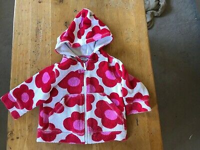 Girls Mini Boden Towelling Zipped Hoody Age 6-12 Months