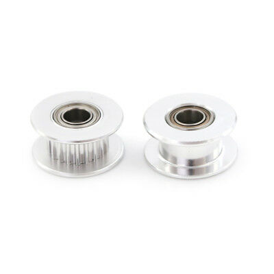 20T 5mm Bore 6mm Gt2 Belt Smooth Idler Pulley Aluminum Alloy For 3D Printer IHFR