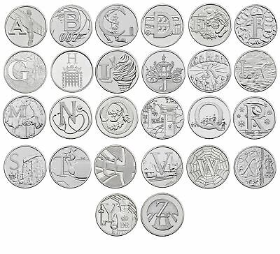 2018 A-Z 10p Alphabet Coins, A to Z Choose Letter, Uncirculated from Royal Mint