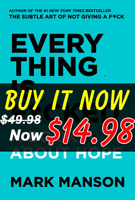 Everything Is F*cked: A Book About Hope by Mark Manson Book - NEW *Exclusive*