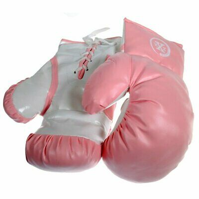 1 Pair of Triple Threat Lace-Up Style Kids Boxing Gloves -  Pink - 16oz
