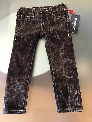 NWT True Religion Girls Casey Single End Blackout Jeans Size 3T Authentic C6