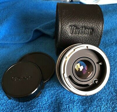 VIVITAR Automatic Tele Converter 2X-4 FL/FD Mint W/ Lens Caps & Leather case!